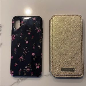 2x Kate spade cell phone cases. iPhone X